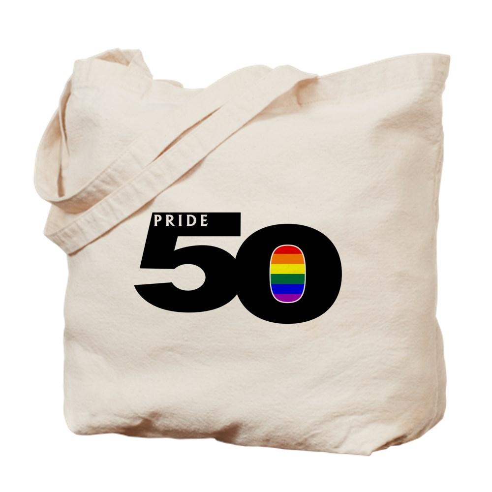 Pride 50 LGBTQ Gay Pride Flag Tote Bag