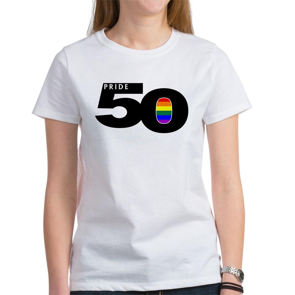 Pride 50 LGBTQ Gay Pride Flag Women's T-Shirt