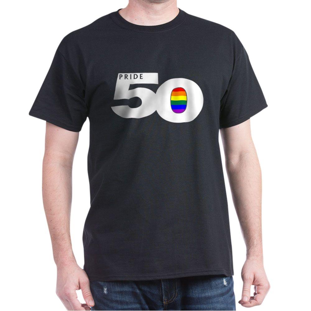 Pride 50 LGBTQ Gay Pride Flag Dark T-Shirt
