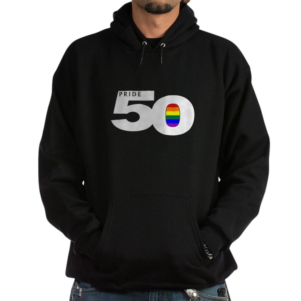 Pride 50 LGBTQ Gay Pride Flag Dark Hoodie