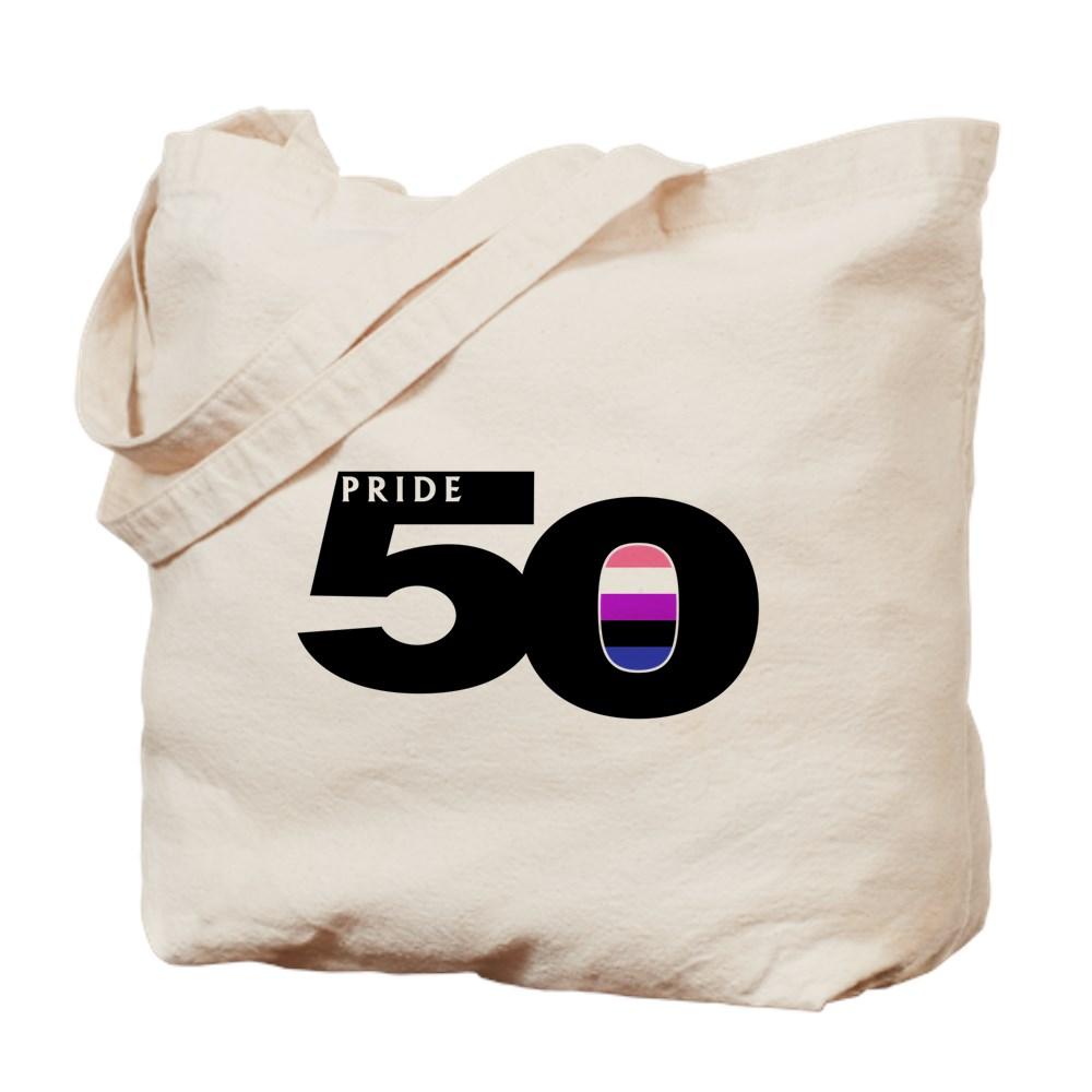 Pride 50 Genderfluid Pride Flag Tote Bag