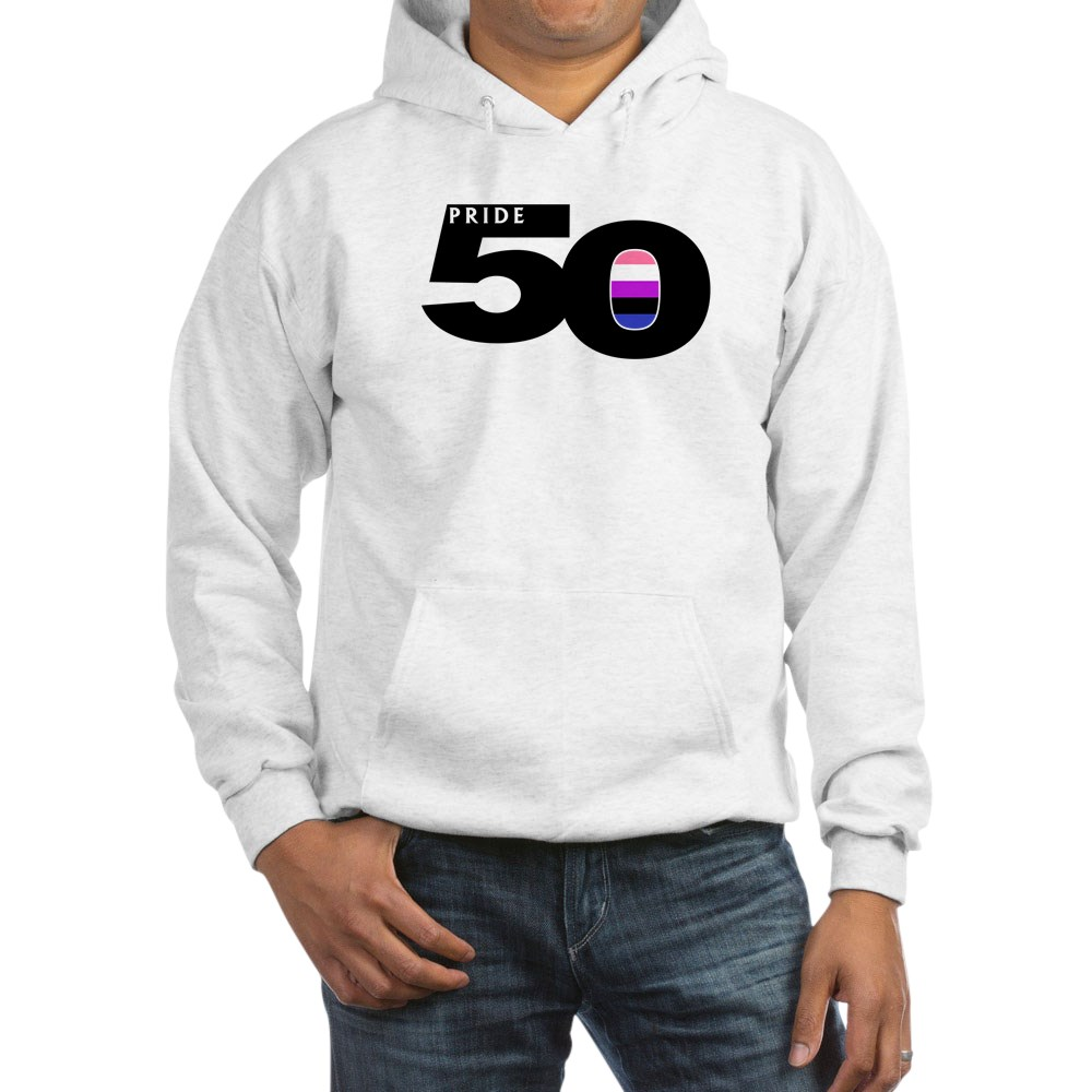 Pride 50 Genderfluid Pride Flag Hooded Sweatshirt
