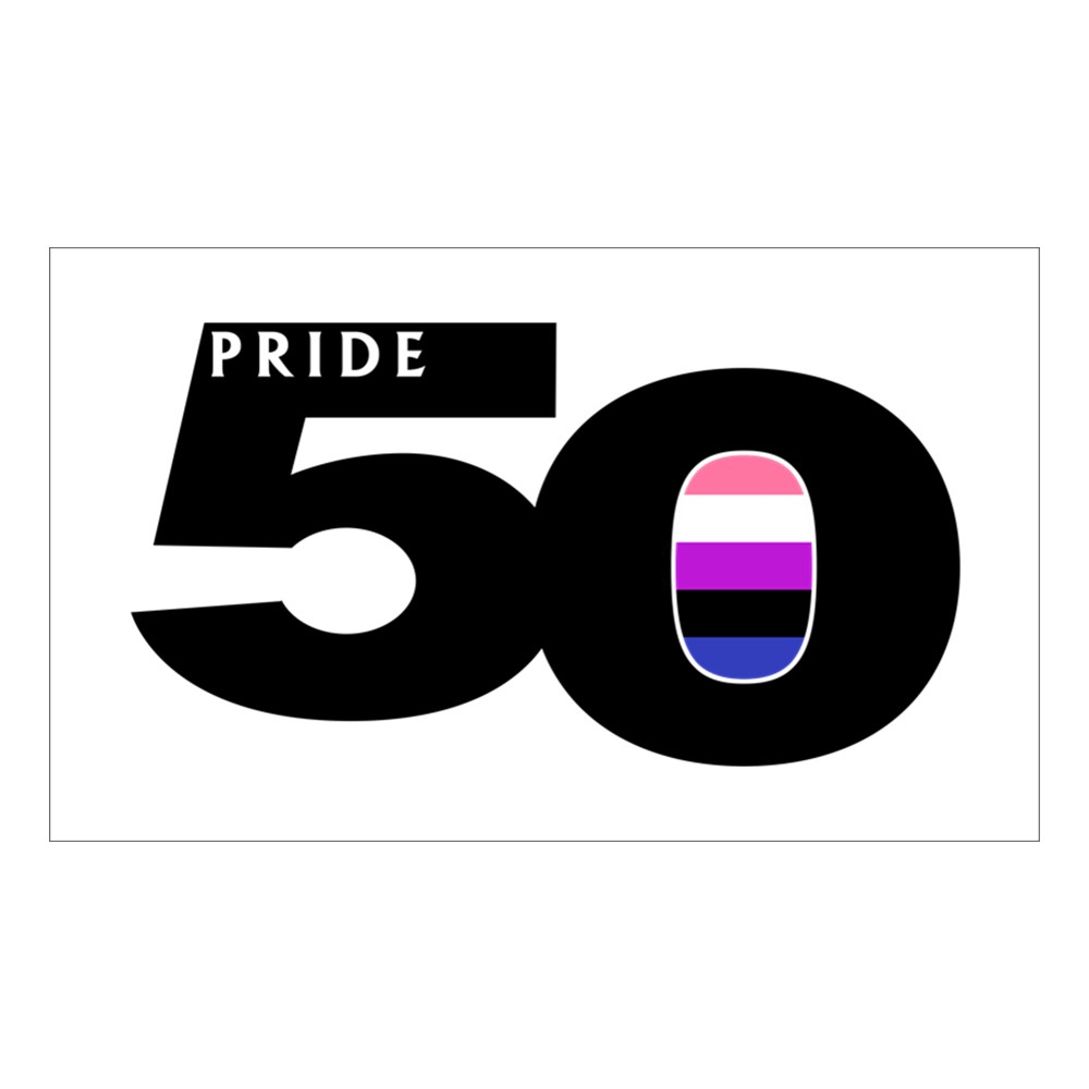 Pride 50 Genderfluid Pride Flag Rectangle Sticker
