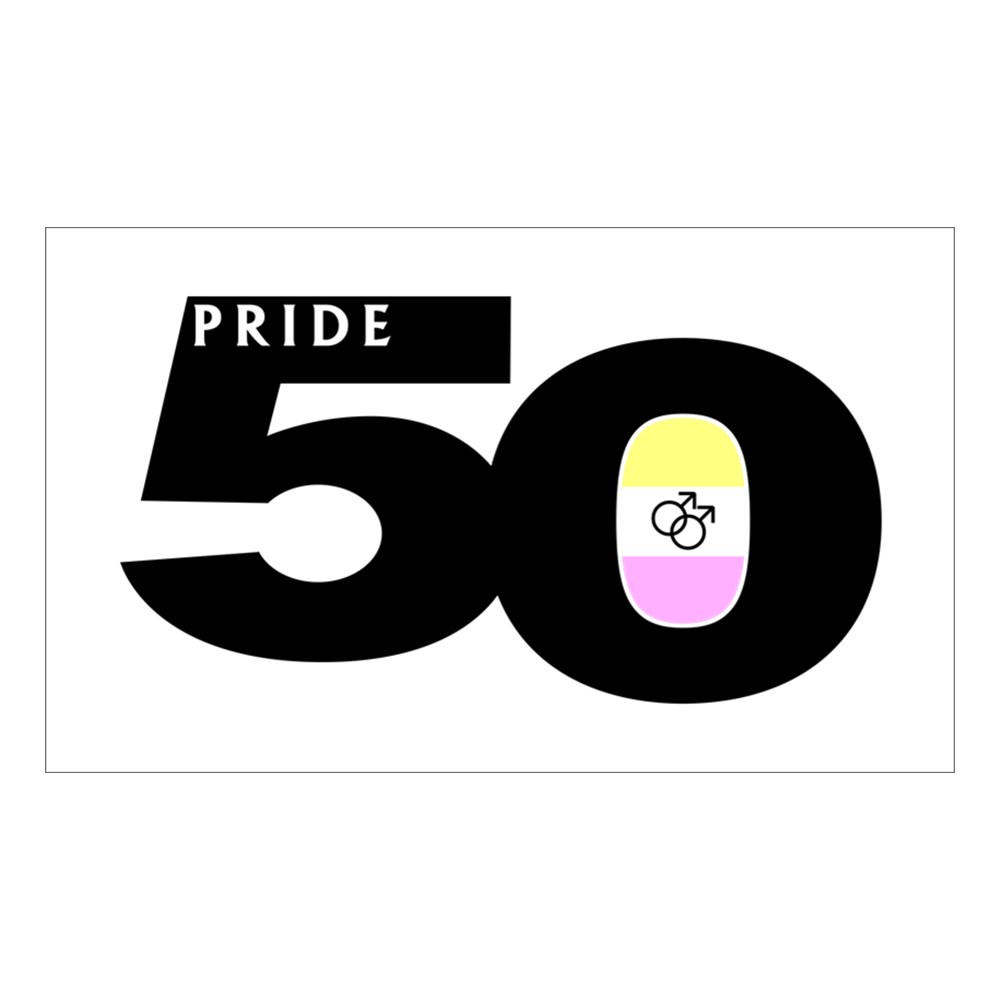 Pride 50 Gay Twink Pride Flag Rectangle Sticker