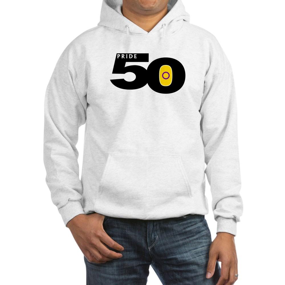 Pride 50 Intersex Pride Flag Hooded Sweatshirt