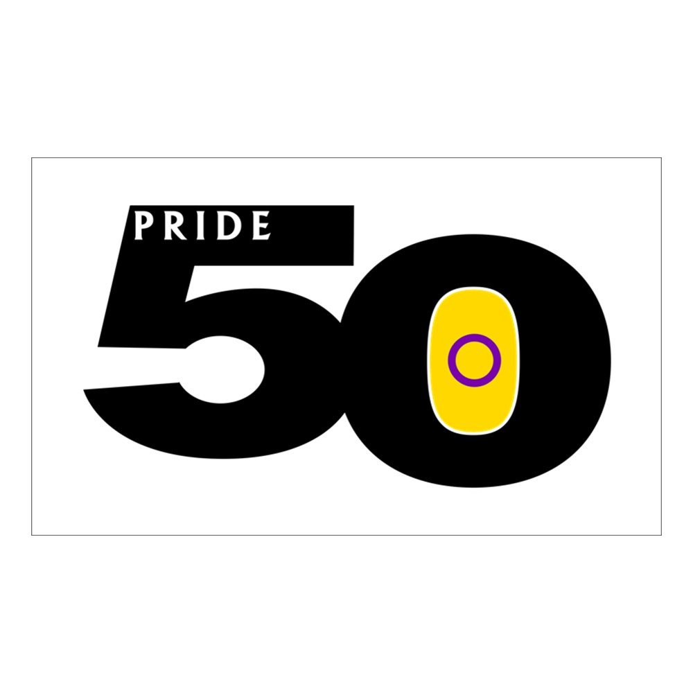 Pride 50 Intersex Pride Flag Rectangle Sticker
