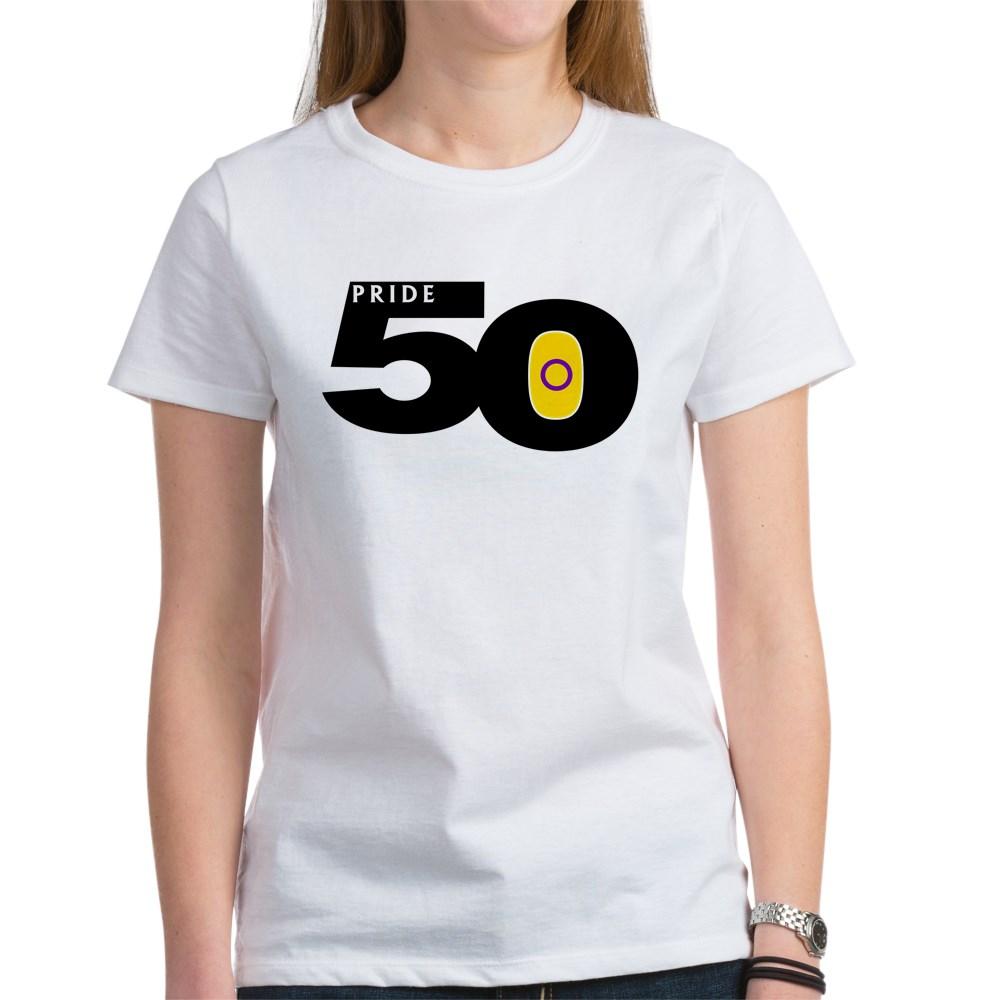 Pride 50 Intersex Pride Flag Women's T-Shirt