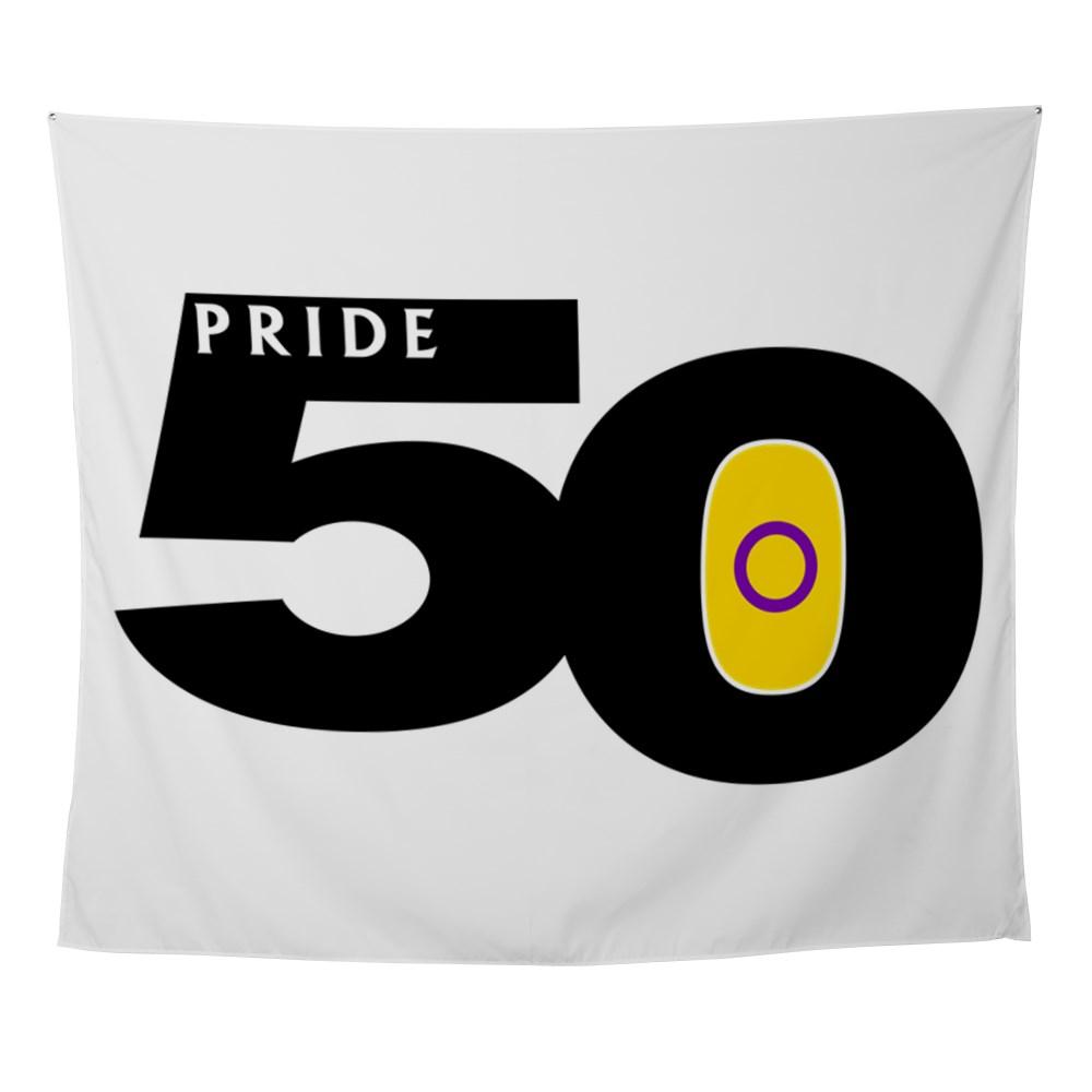 Pride 50 Intersex Pride Flag Wall Tapestry