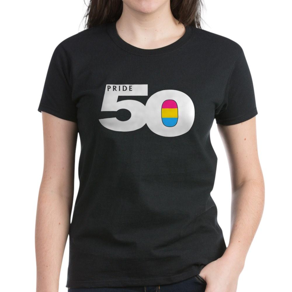 Pride 50 Pansexual Pride Flag Women's Dark T-Shirt