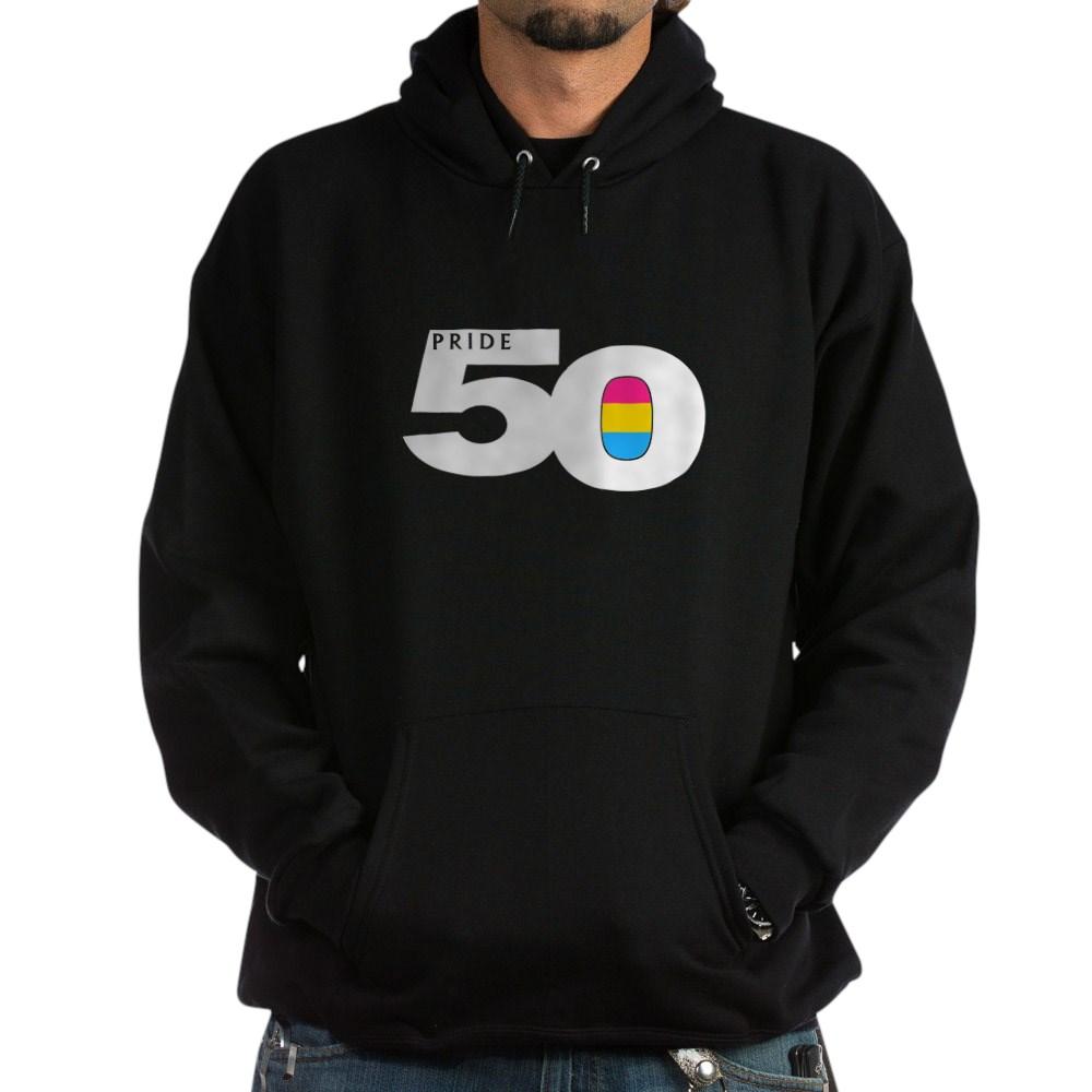 Pride 50 Pansexual Pride Flag Dark Hoodie