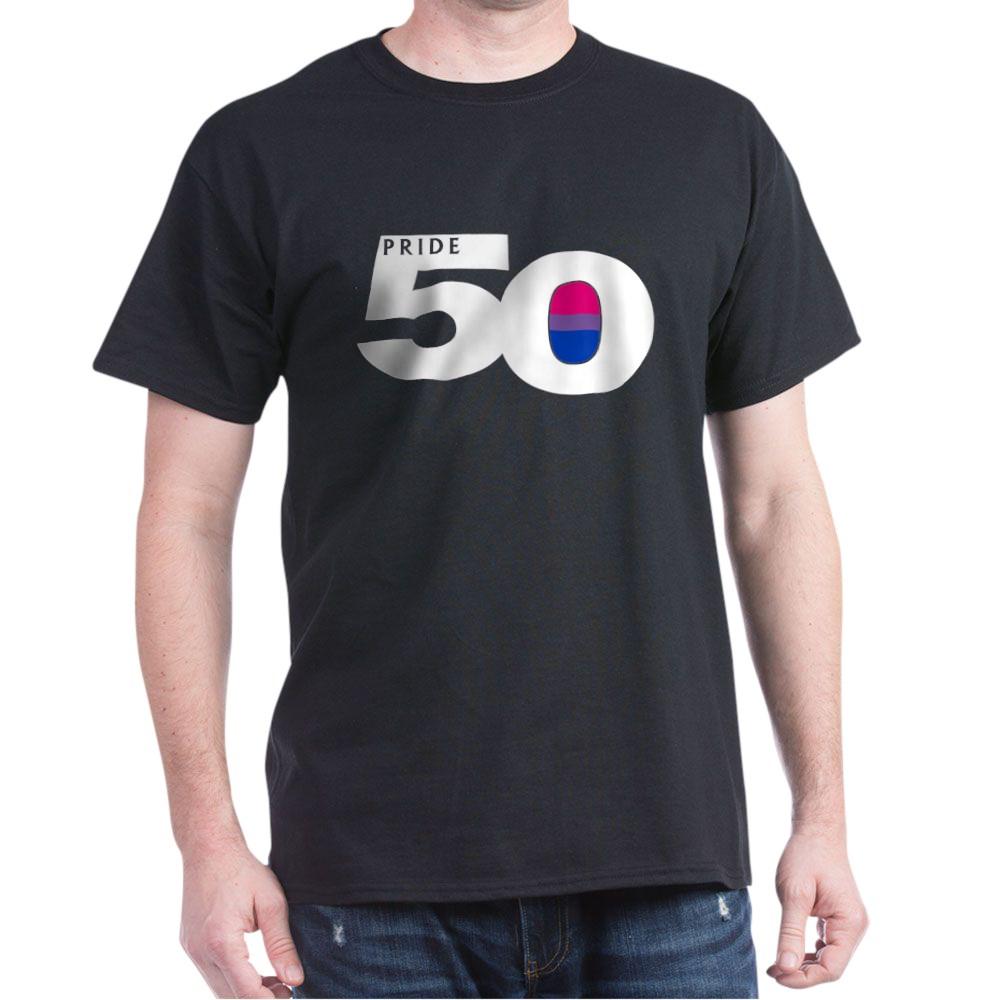 Pride 50 Bisexual Pride Flag Dark T-Shirt