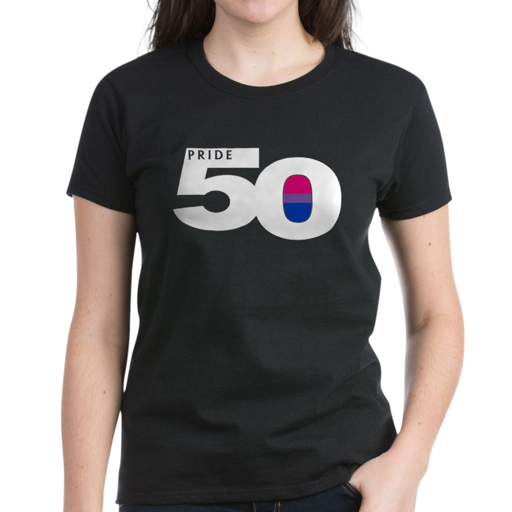 Pride 50 Bisexual Pride Flag Women's Dark T-Shirt
