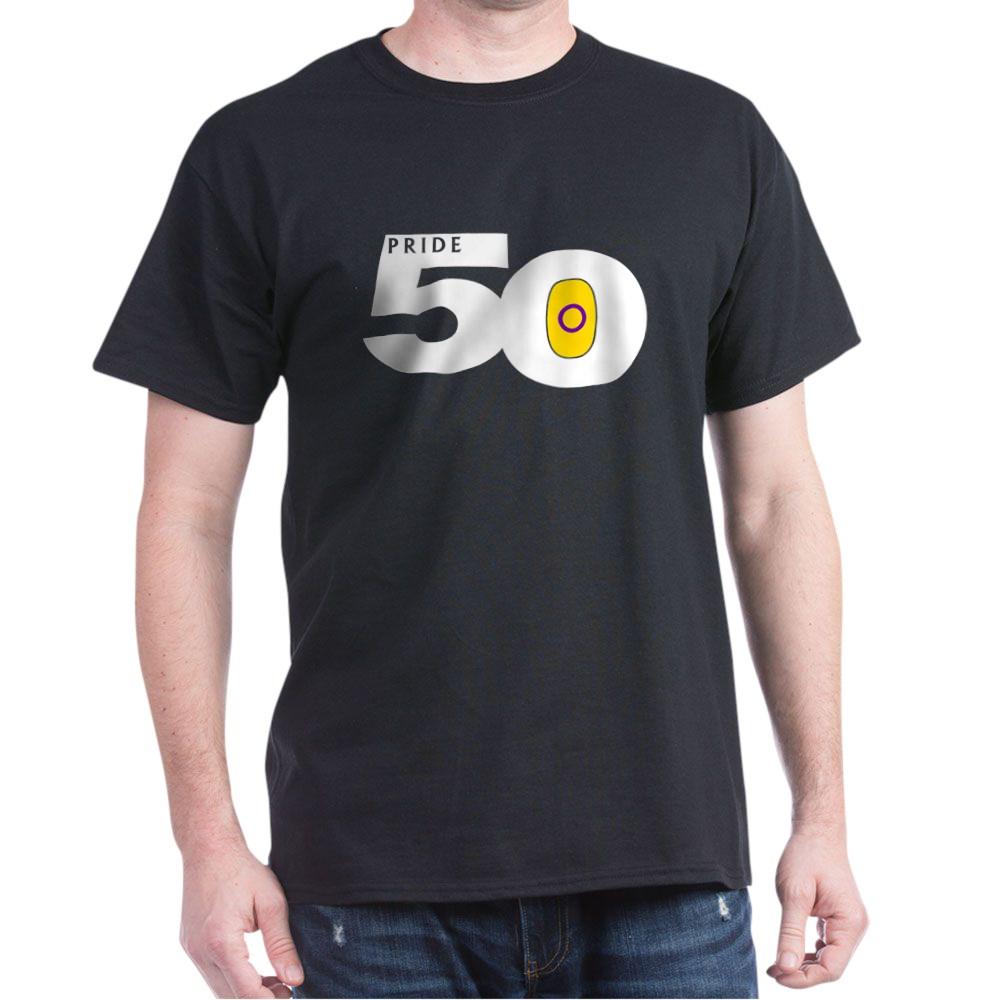 Pride 50 Intersex Pride Flag Dark T-Shirt
