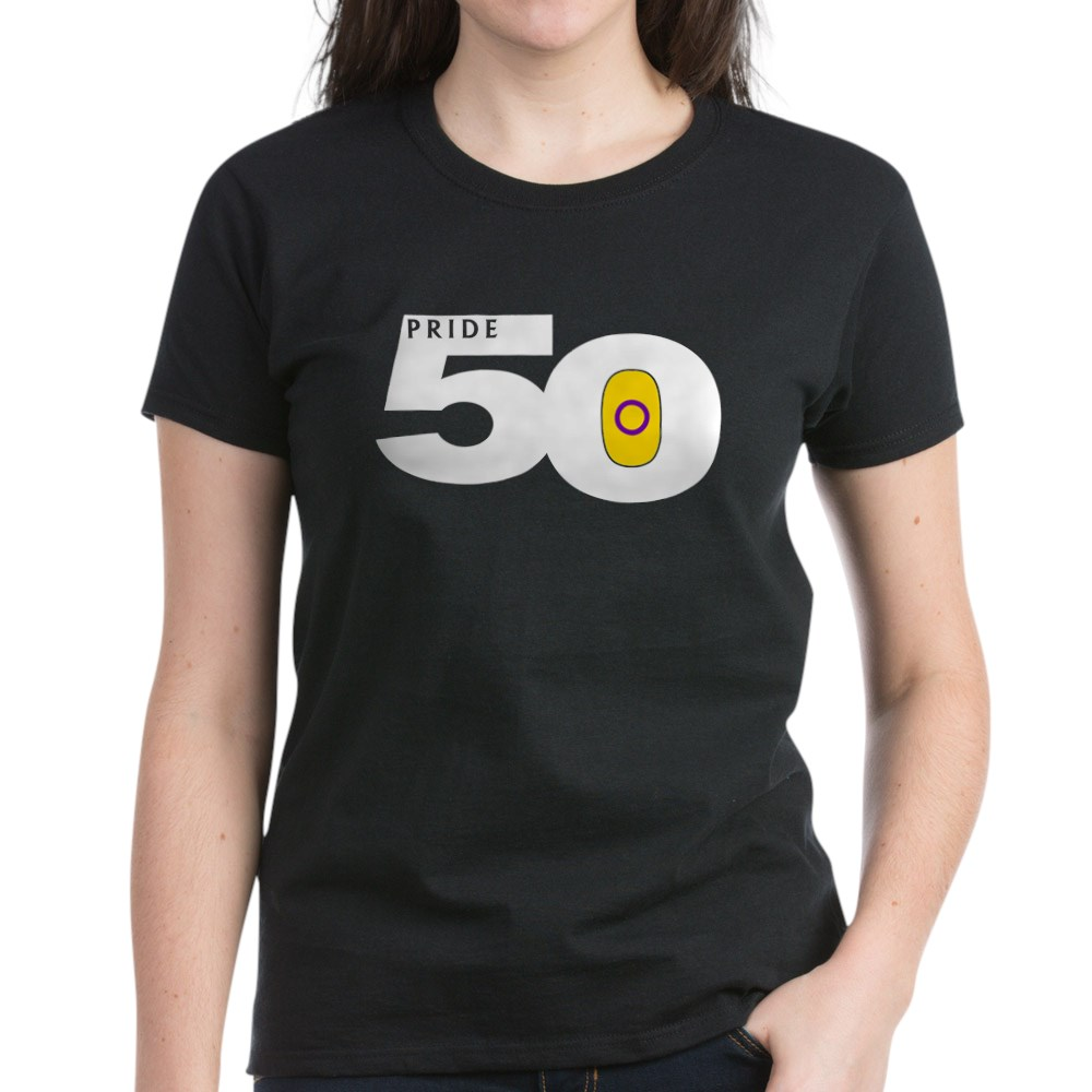 Pride 50 Intersex Pride Flag Women's Dark T-Shirt