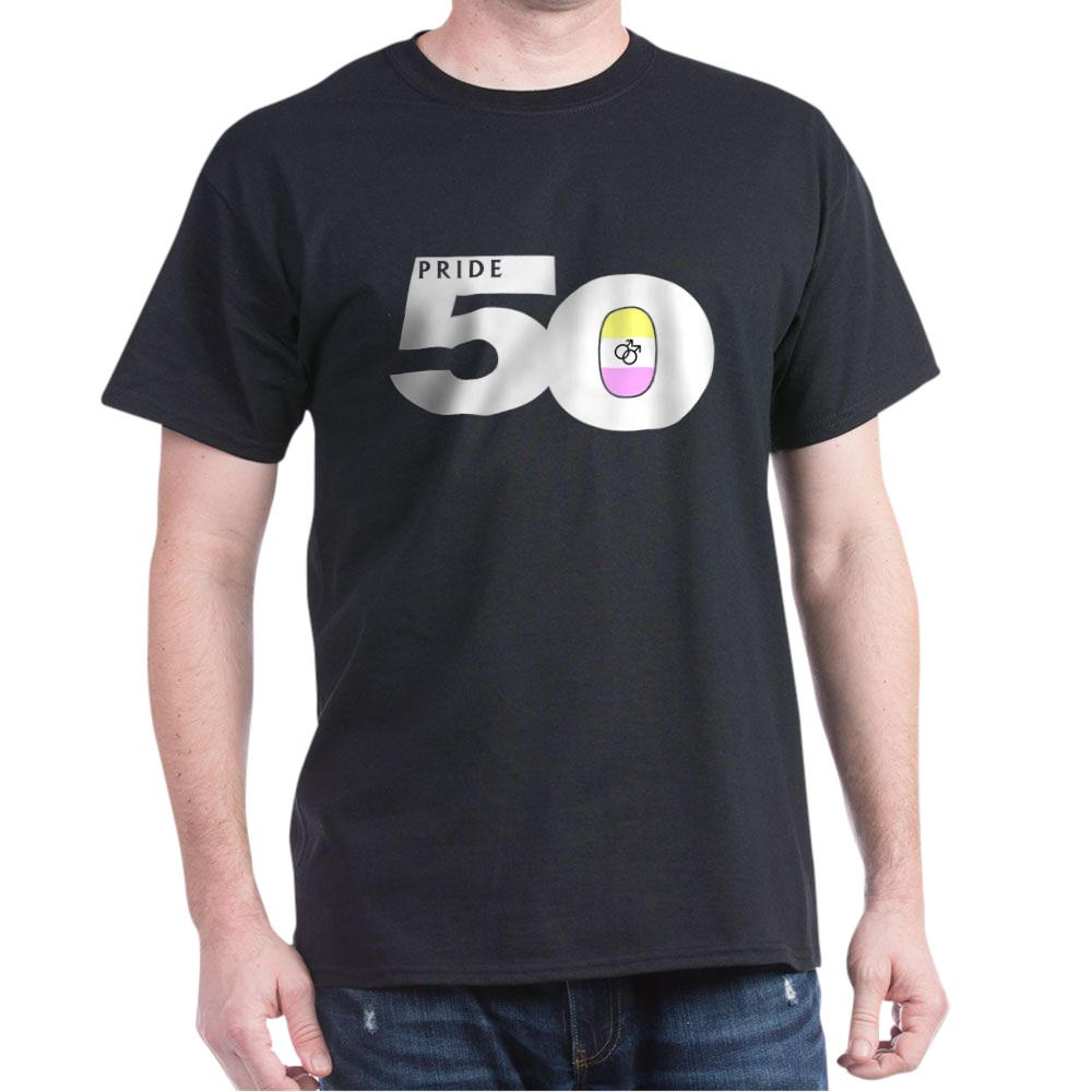 Pride 50 Gay Twink Pride Flag Dark T-Shirt