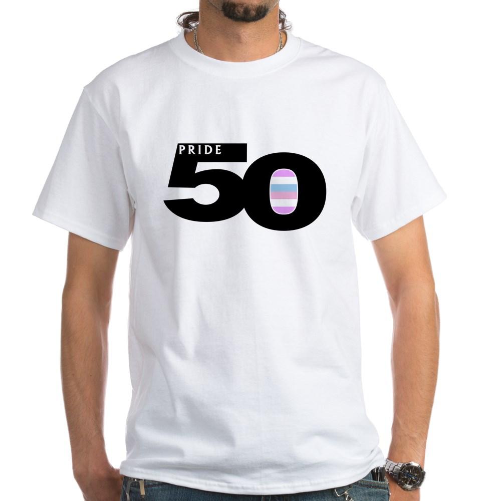 Pride 50 Bigender Pride Flag White T-Shirt