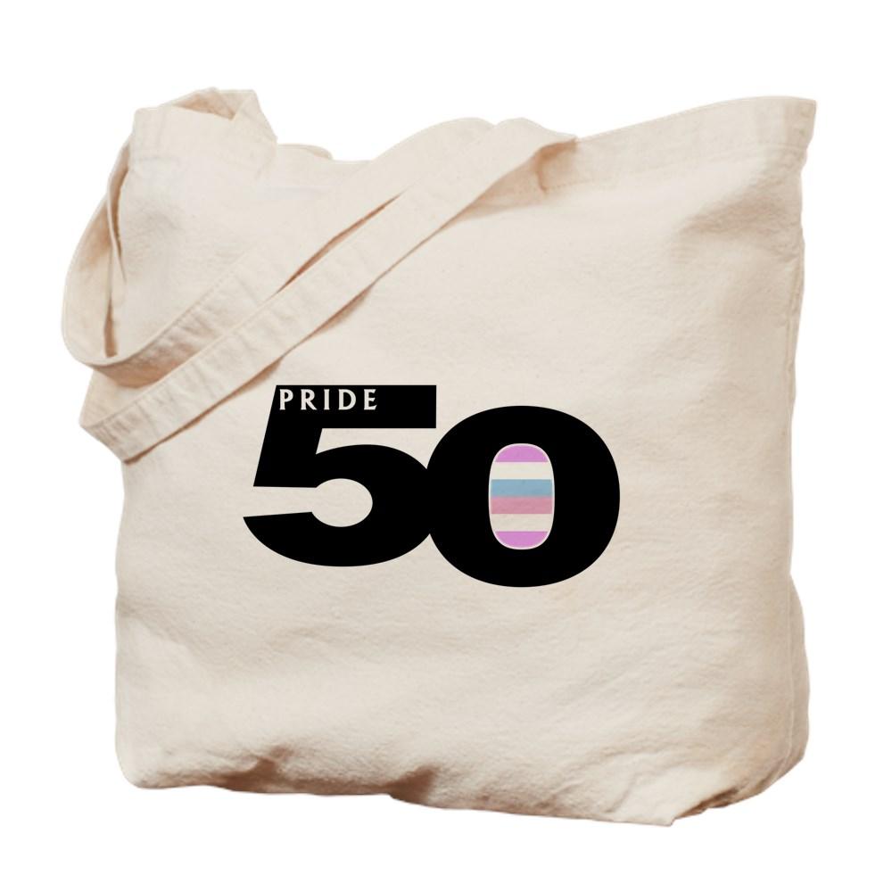 Pride 50 Bigender Pride Flag Tote Bag