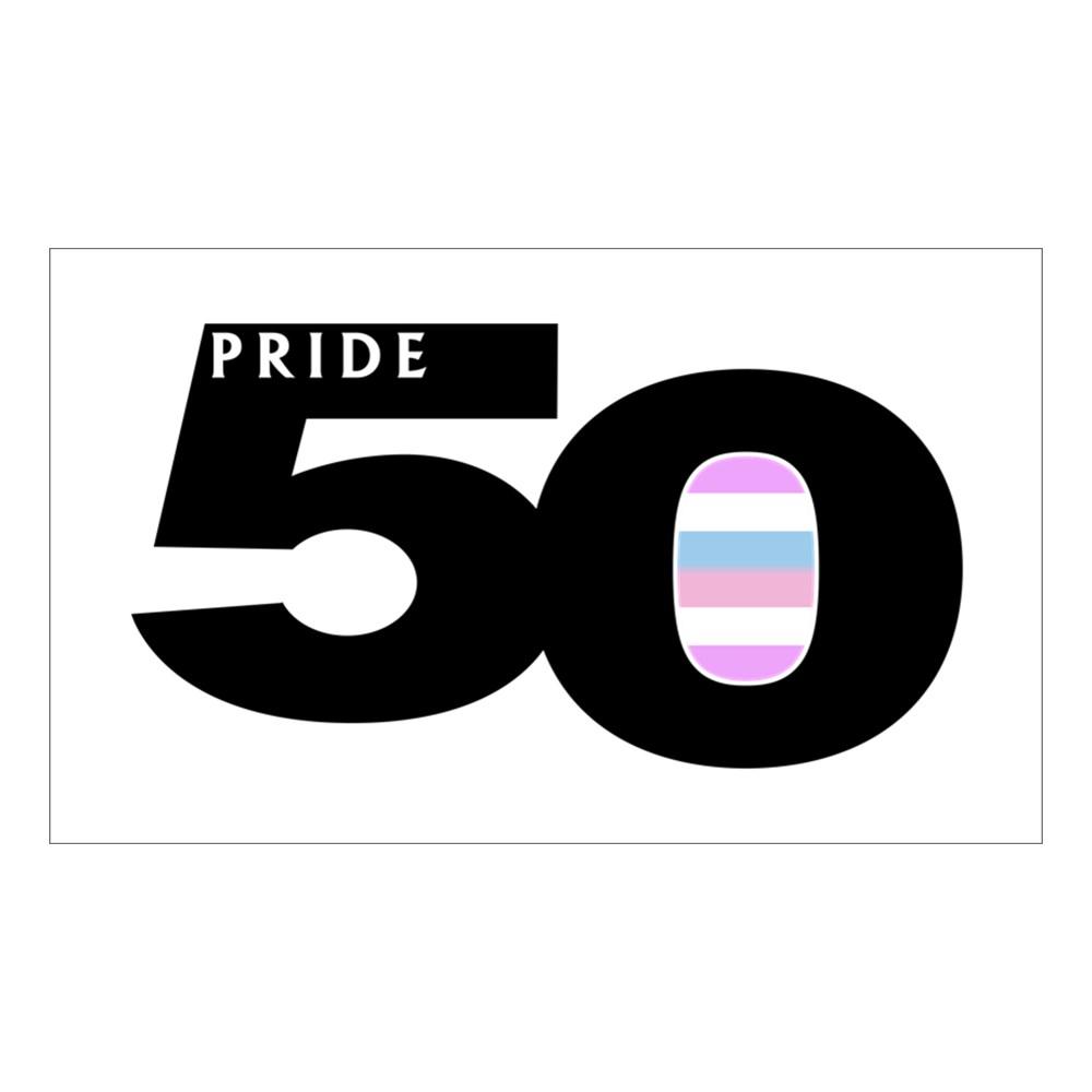Pride 50 Bigender Pride Flag Rectangle Sticker