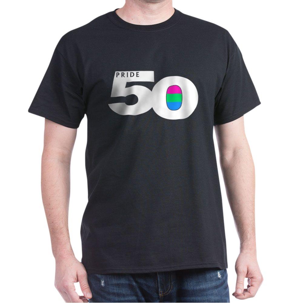 Pride 50 Polysexual Pride Flag Dark T-Shirt