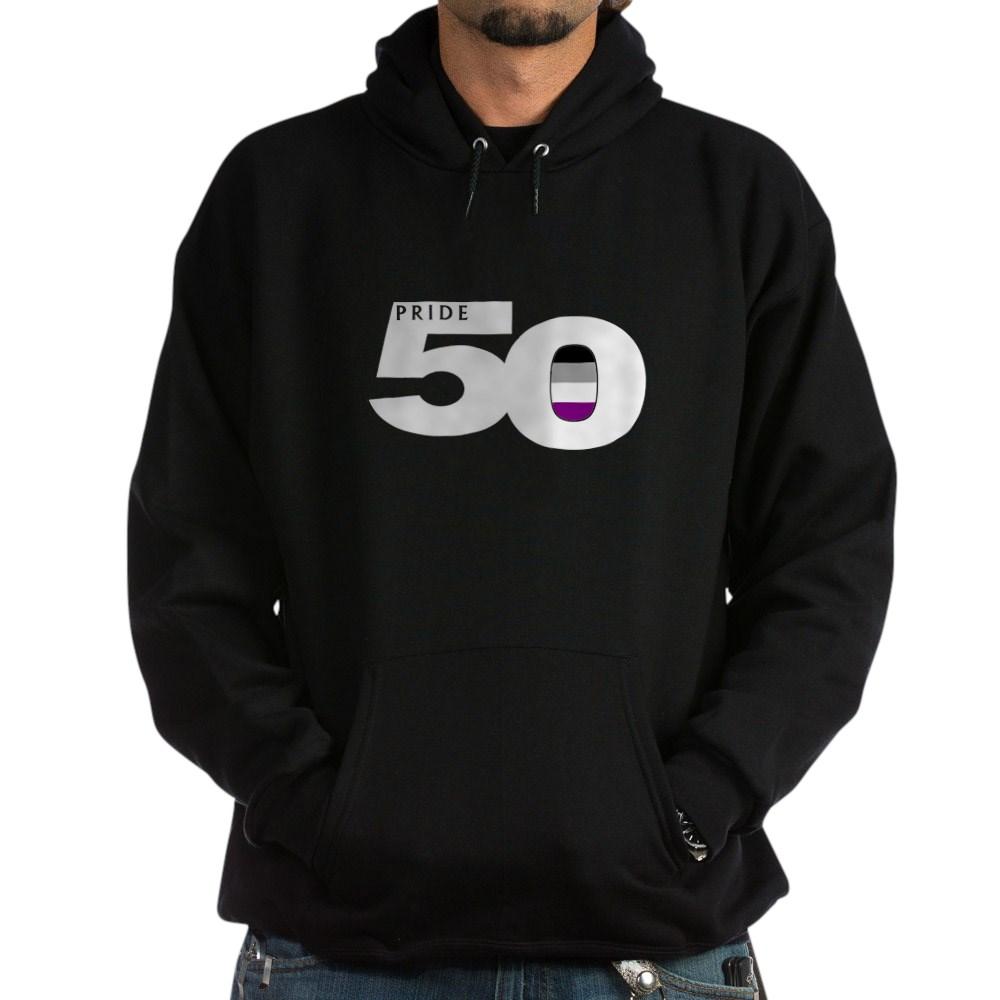 Pride 50 Asexual Pride Flag Dark Hoodie