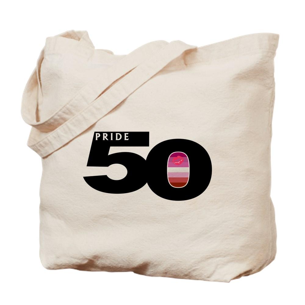 Pride 50 Lipstick Lesbian Pride Flag Tote Bag