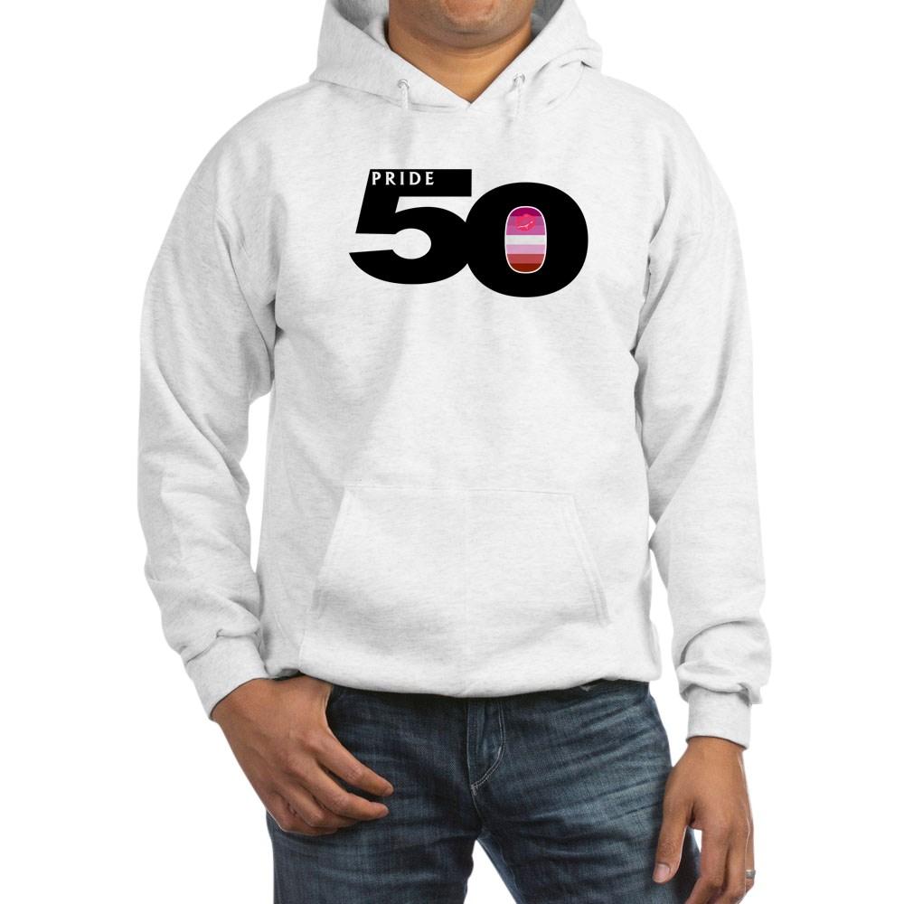 Pride 50 Lipstick Lesbian Pride Flag Hooded Sweatshirt