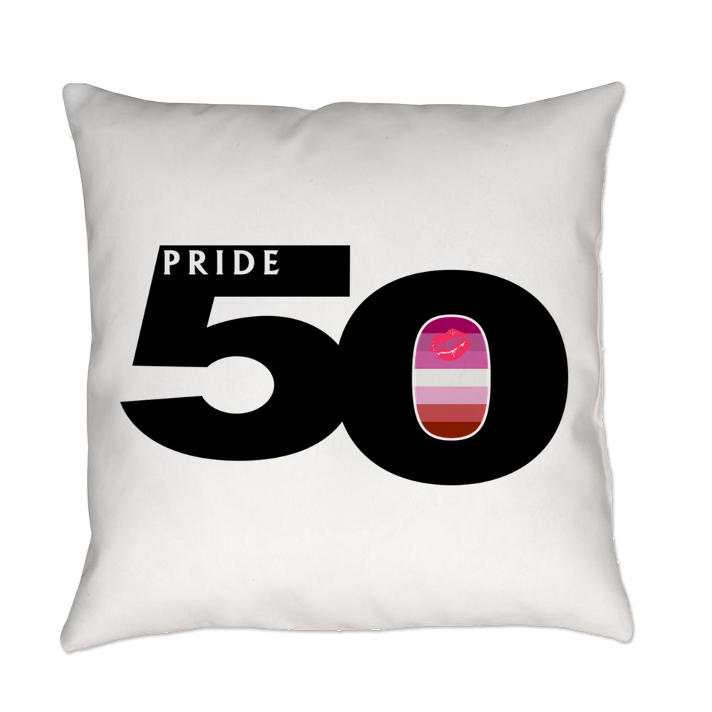 Pride 50 Lipstick Lesbian Pride Flag Everyday Pillow