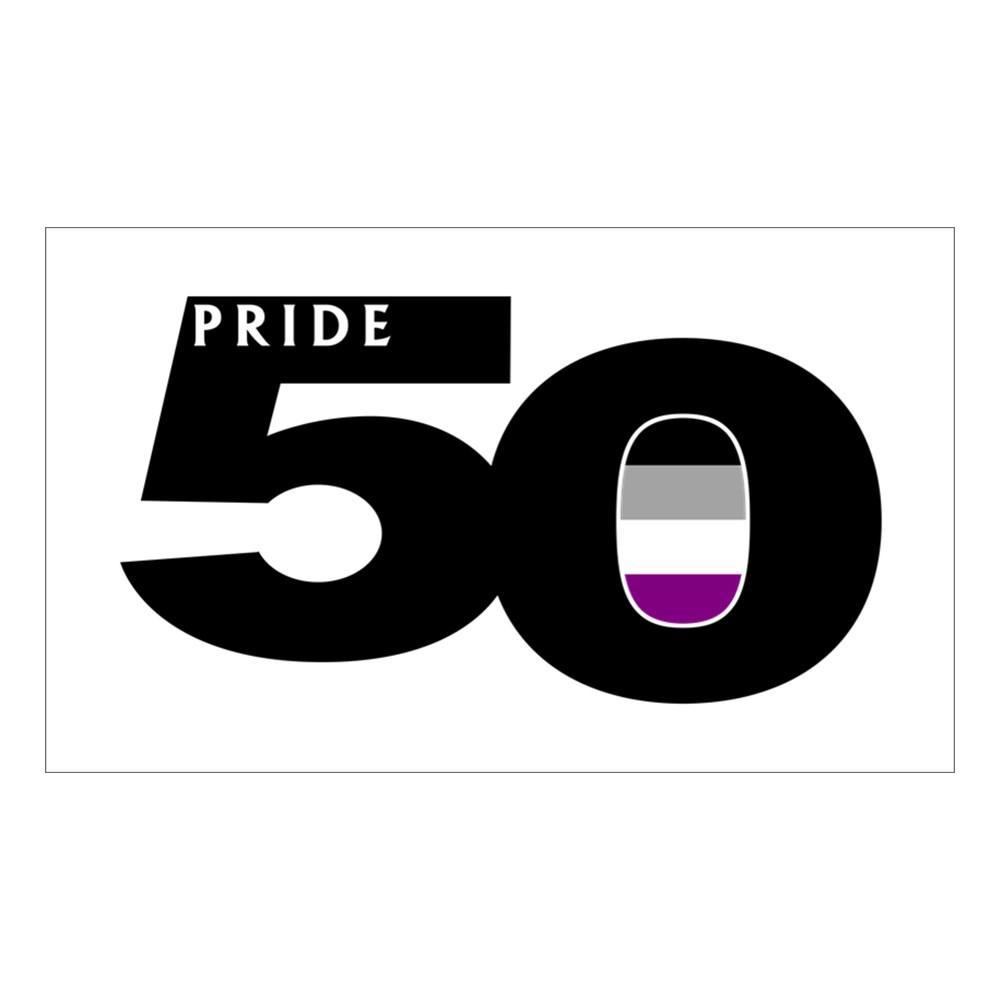 Pride 50 Asexual Pride Flag Rectangle Sticker