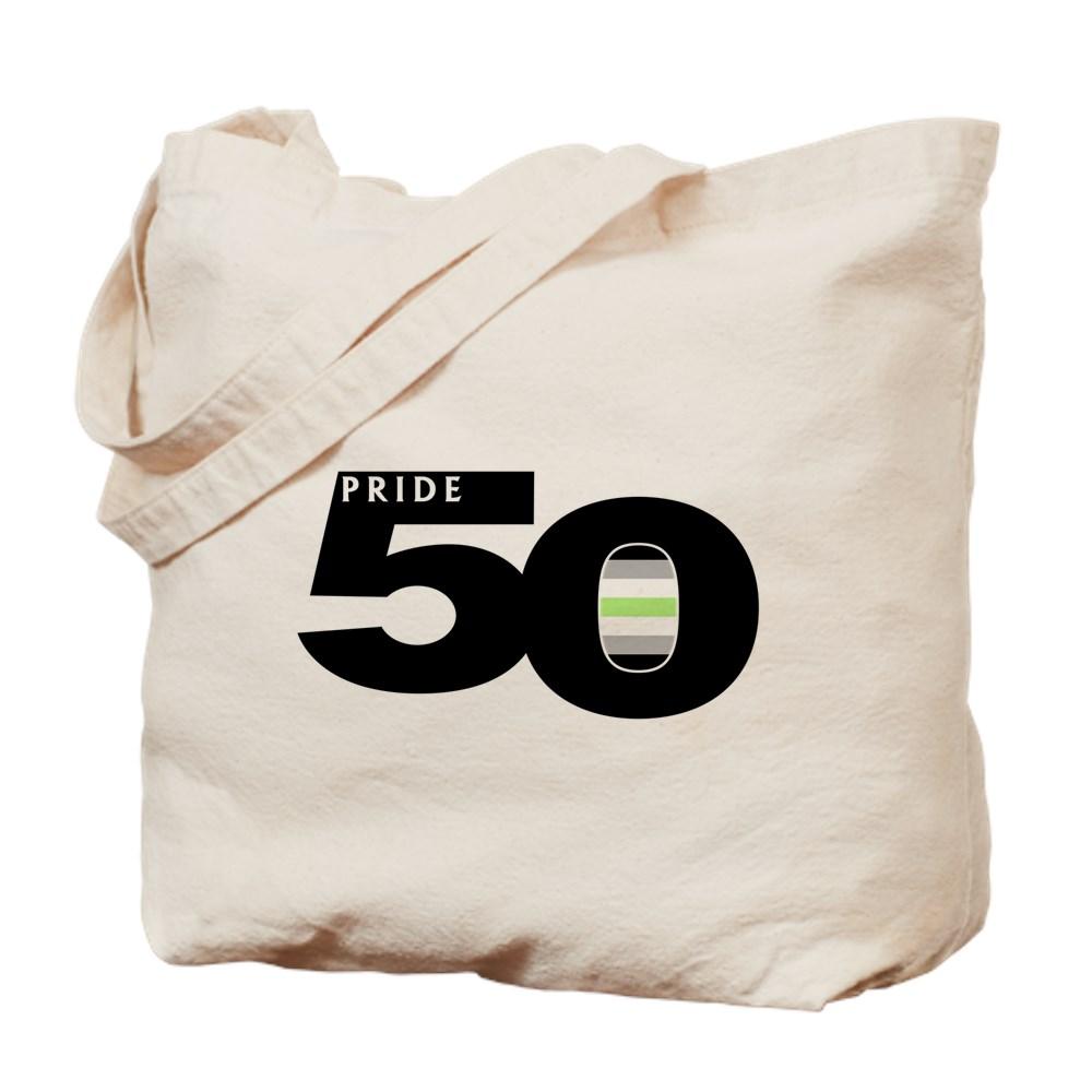 Pride 50 Agender Pride Flag Tote Bag