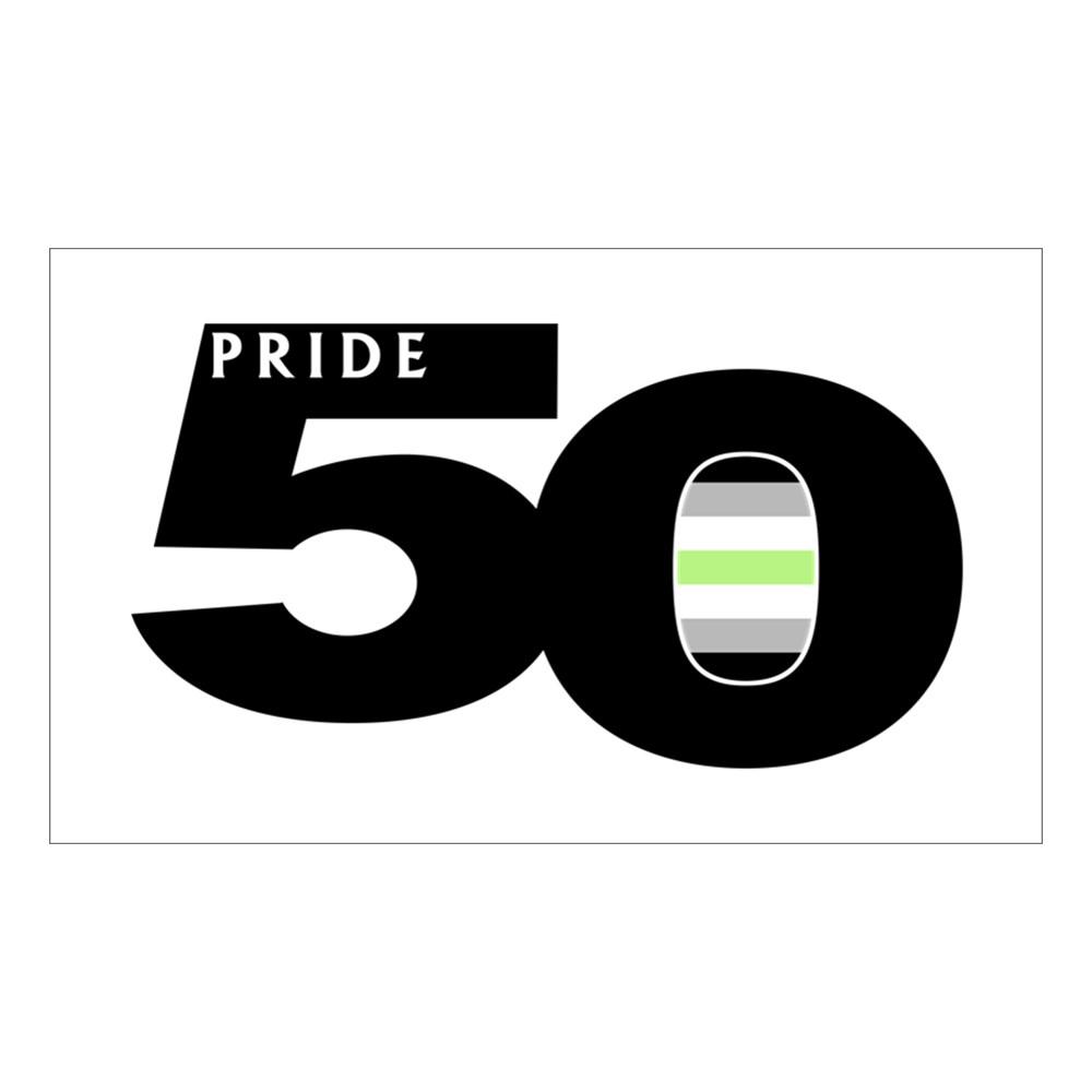 Pride 50 Agender Pride Flag Rectangle Sticker