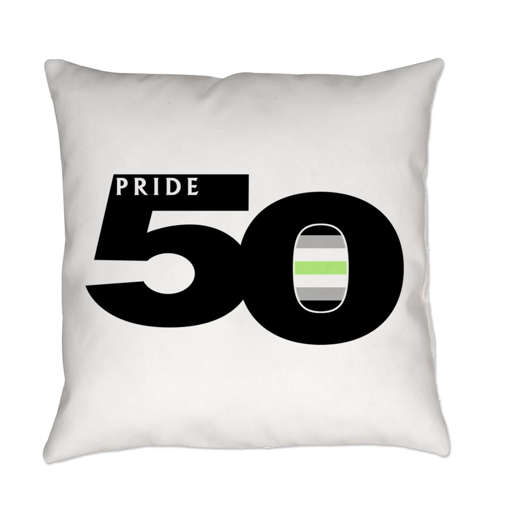 Pride 50 Agender Pride Flag Everyday Pillow