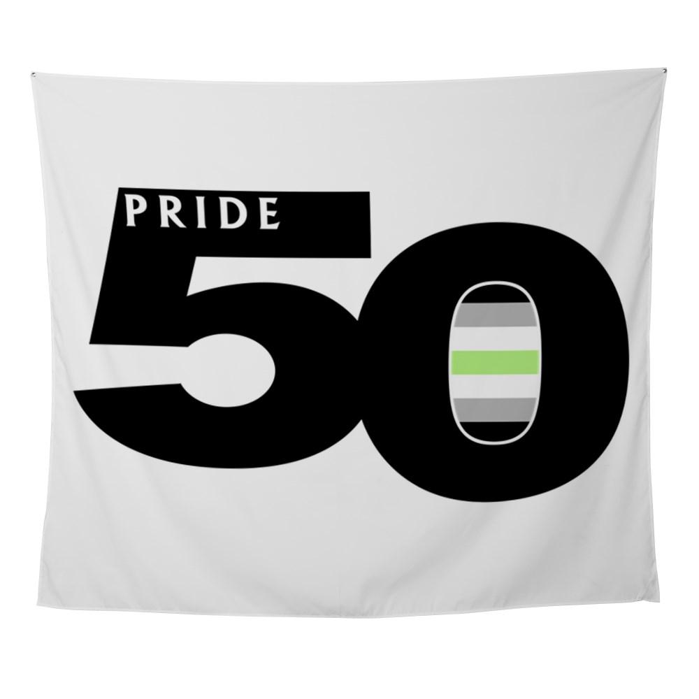 Pride 50 Agender Pride Flag Wall Tapestry