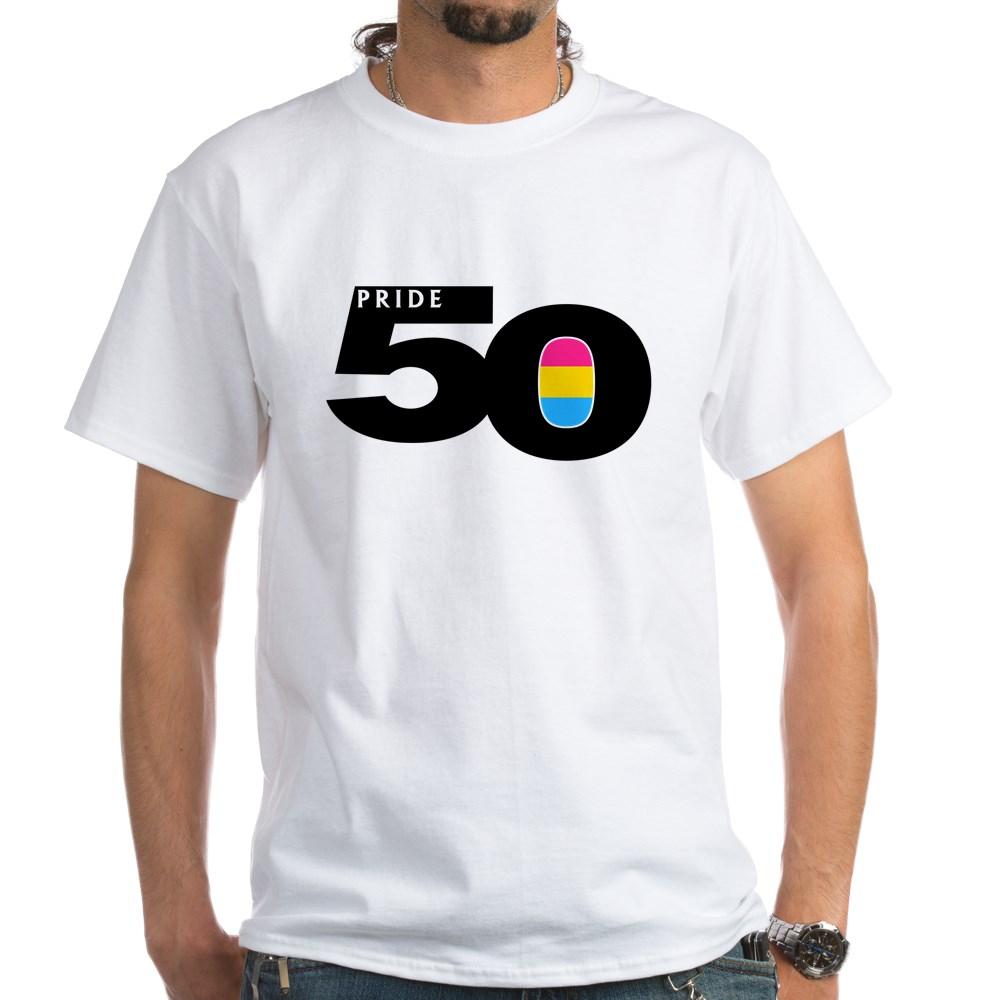 Pride 50 Pansexual Pride Flag White T-Shirt