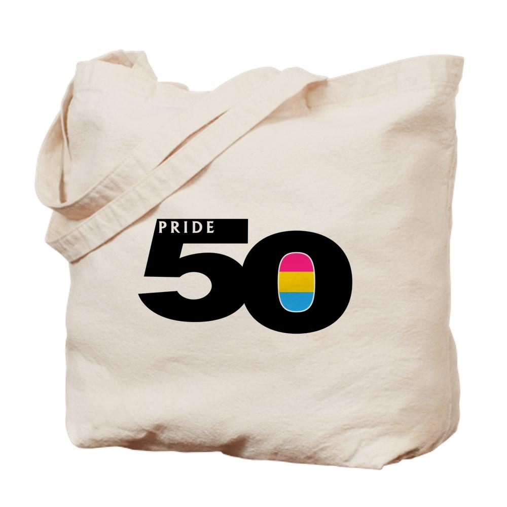Pride 50 Pansexual Pride Flag Tote Bag