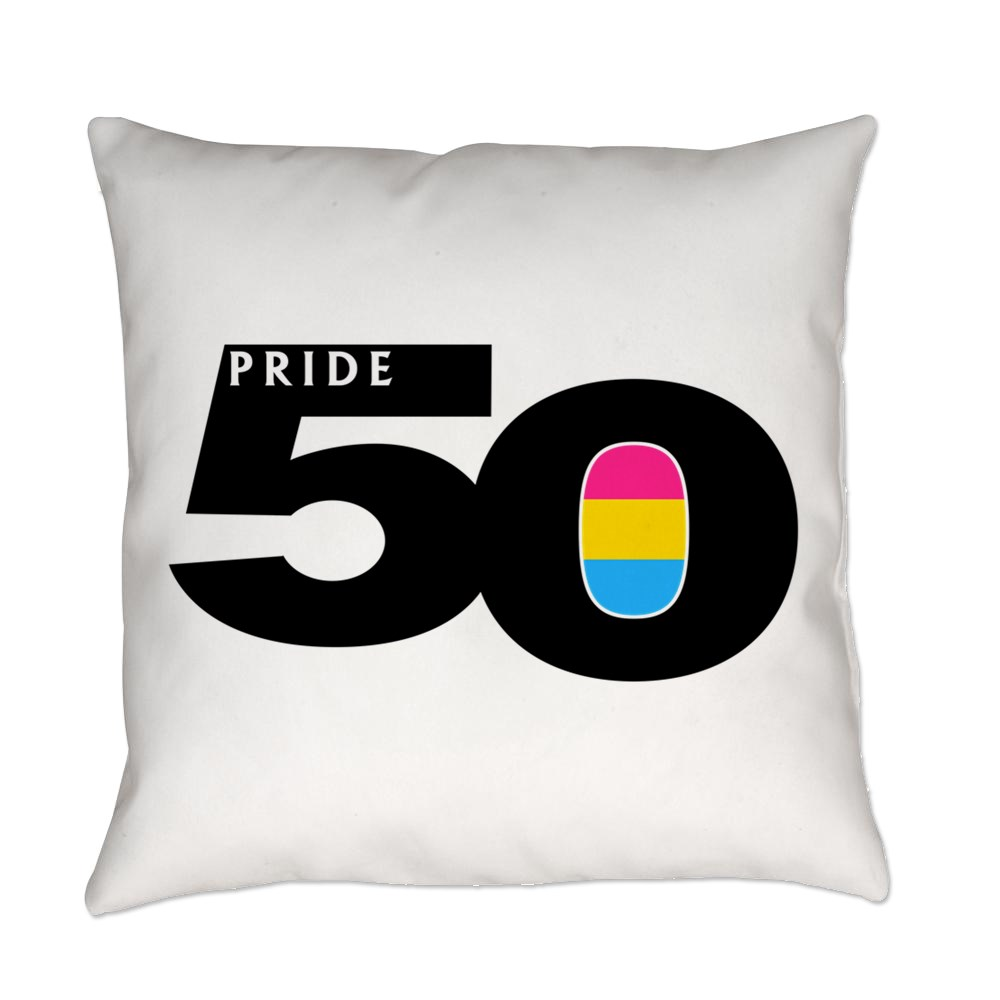 Pride 50 Pansexual Pride Flag Everyday Pillow