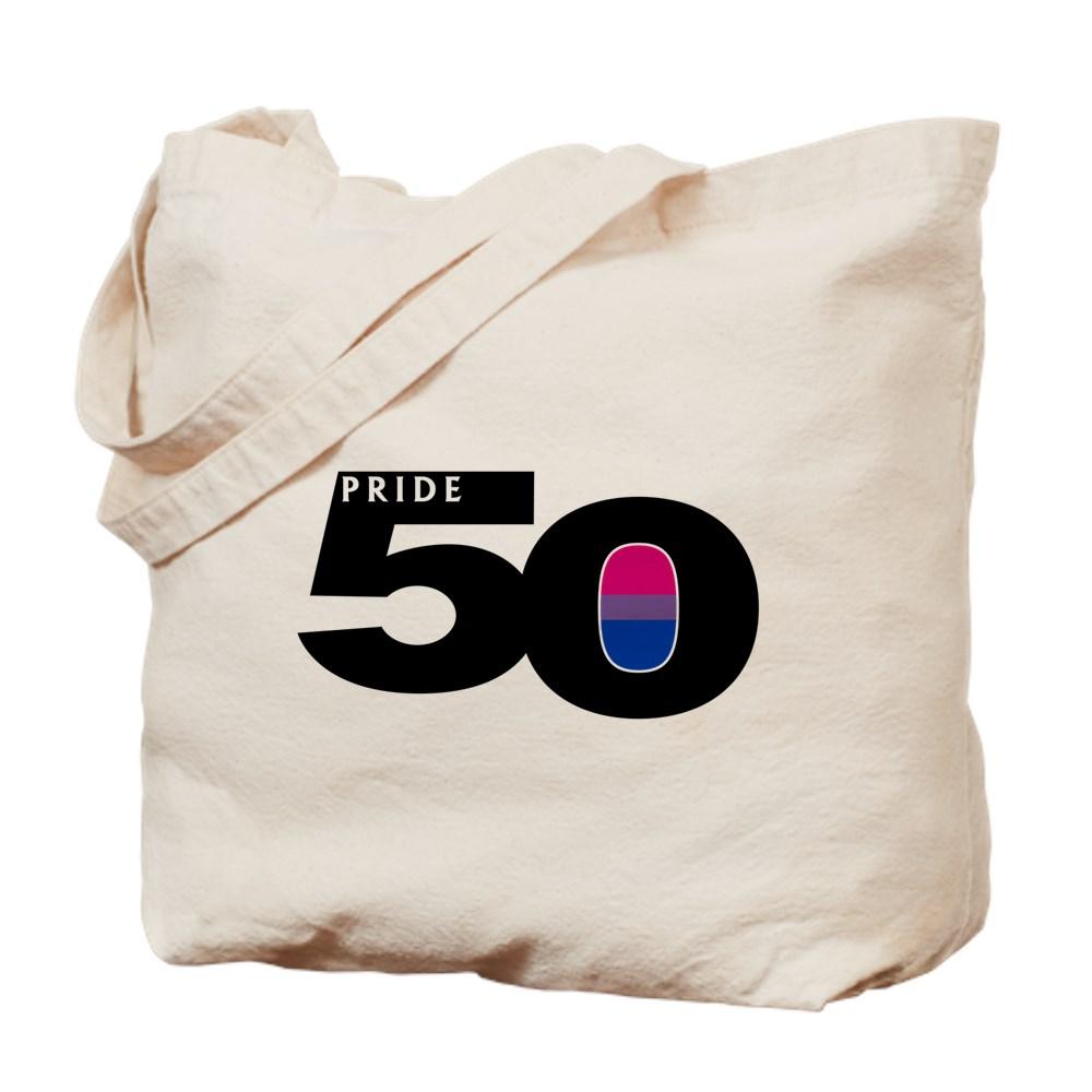 Pride 50 Bisexual Pride Flag Tote Bag