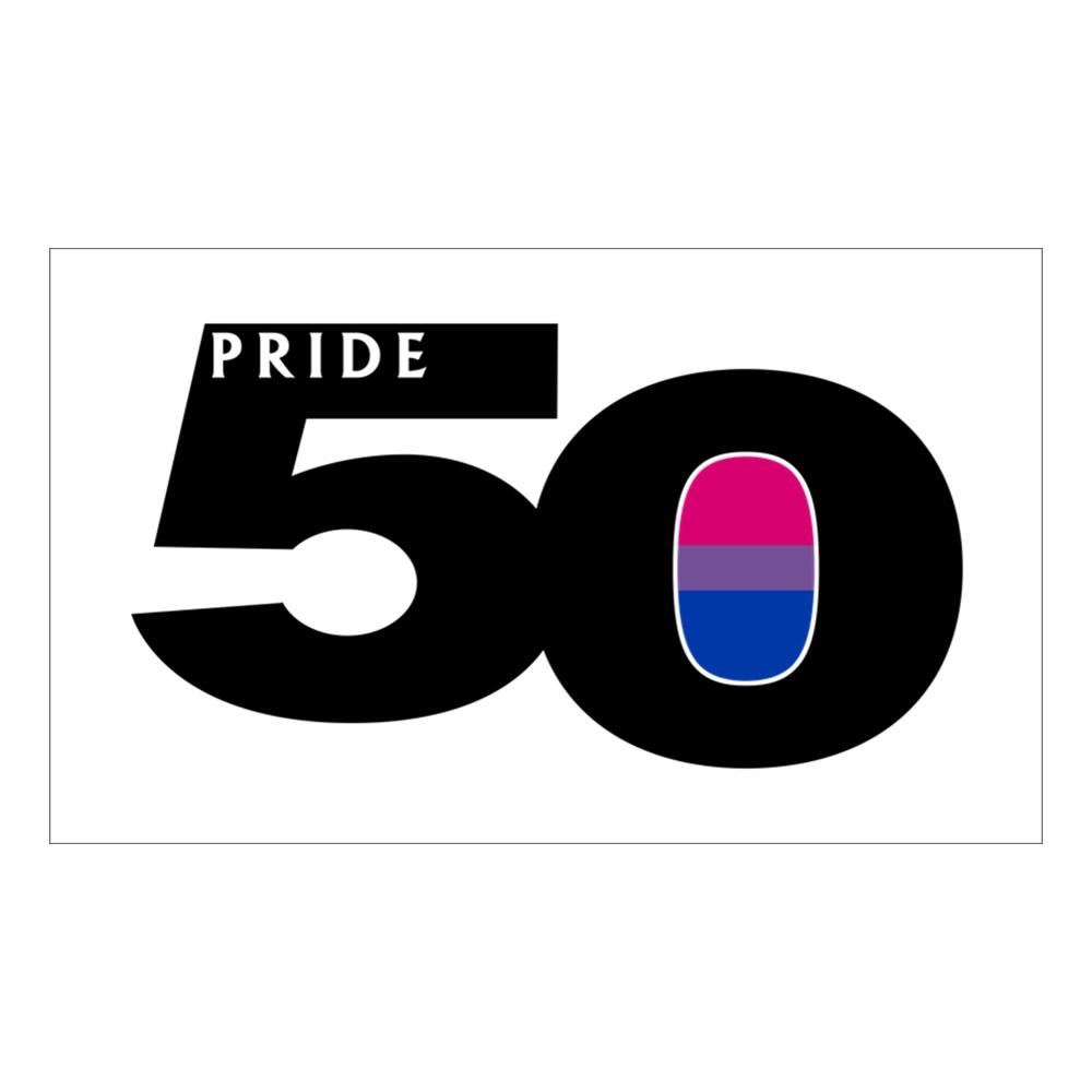Pride 50 Bisexual Pride Flag Rectangle Sticker