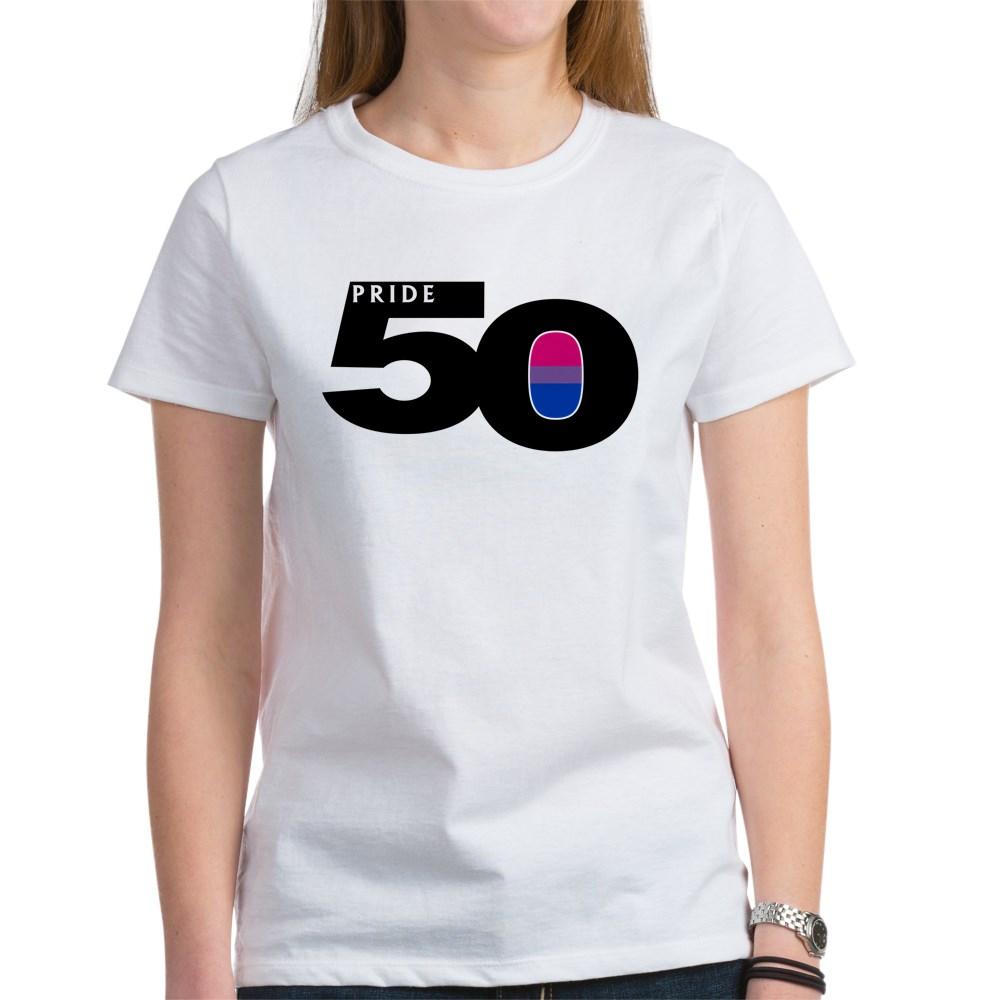 Pride 50 Bisexual Pride Flag Women's T-Shirt
