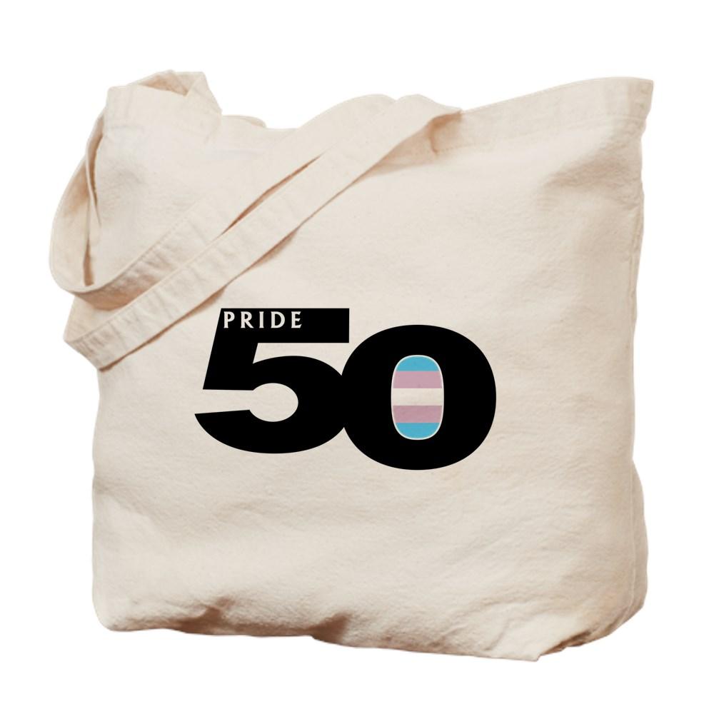 Pride 50 Transgender Pride Flag Tote Bag