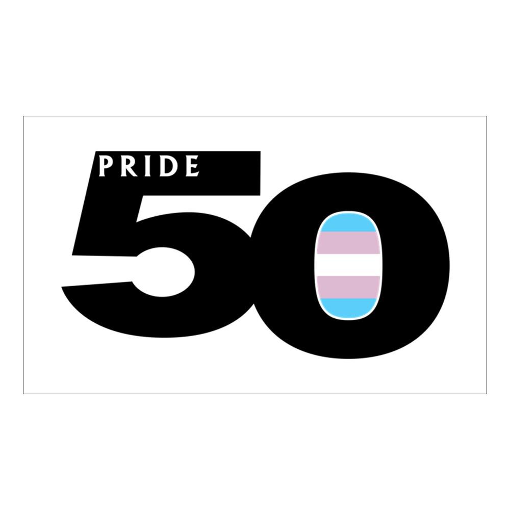 Pride 50 Transgender Pride Flag Rectangle Sticker