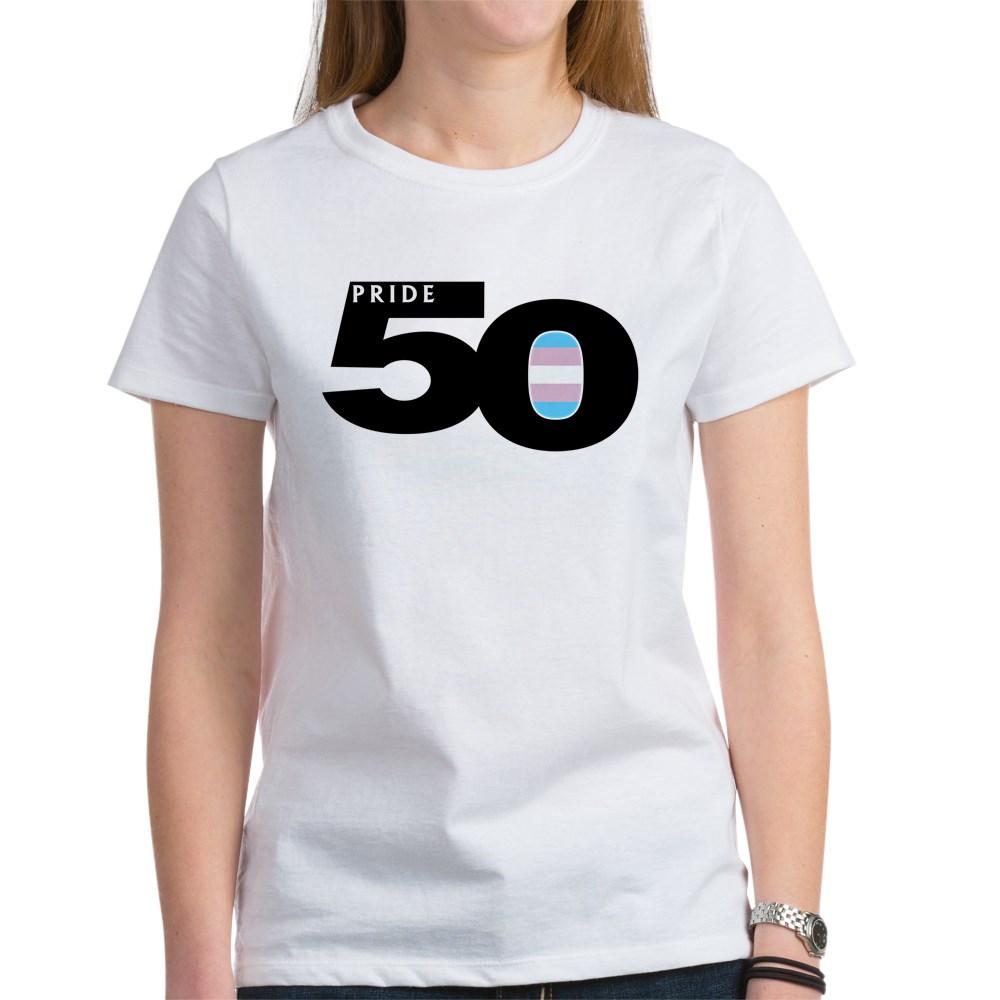 Pride 50 Transgender Pride Flag Women's T-Shirt