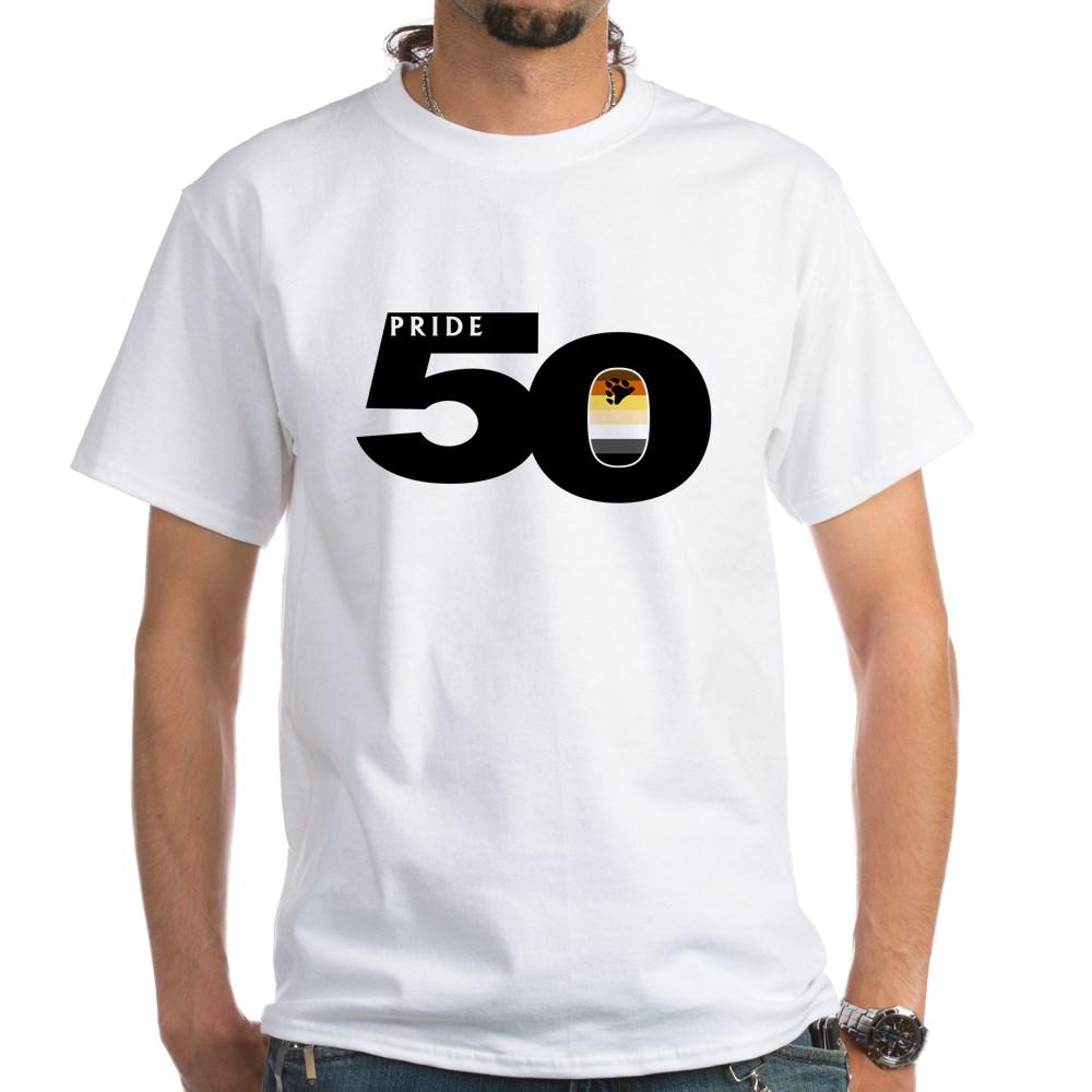 Pride 50 Gay Bear Pride Flag White T-Shirt