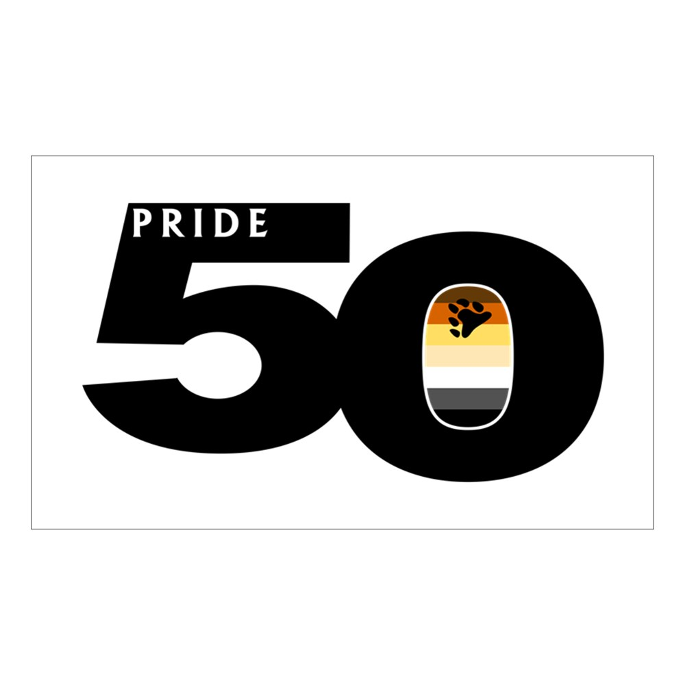 Pride 50 Gay Bear Pride Flag Rectangle Sticker