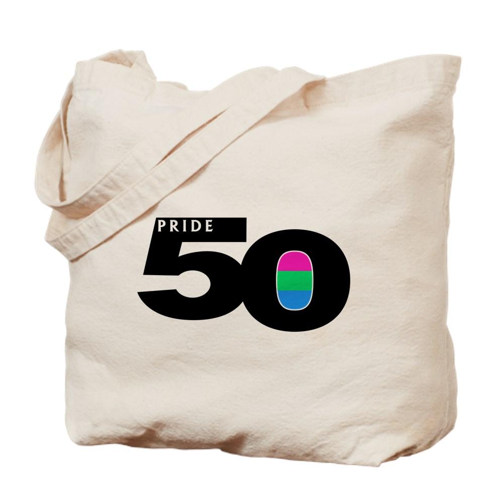 Pride 50 Polysexual Pride Flag Tote Bag