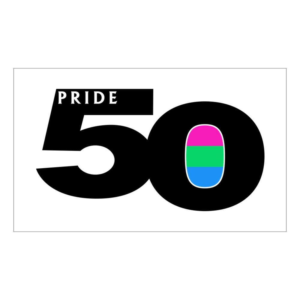 Pride 50 Polysexual Pride Flag Rectangle Sticker