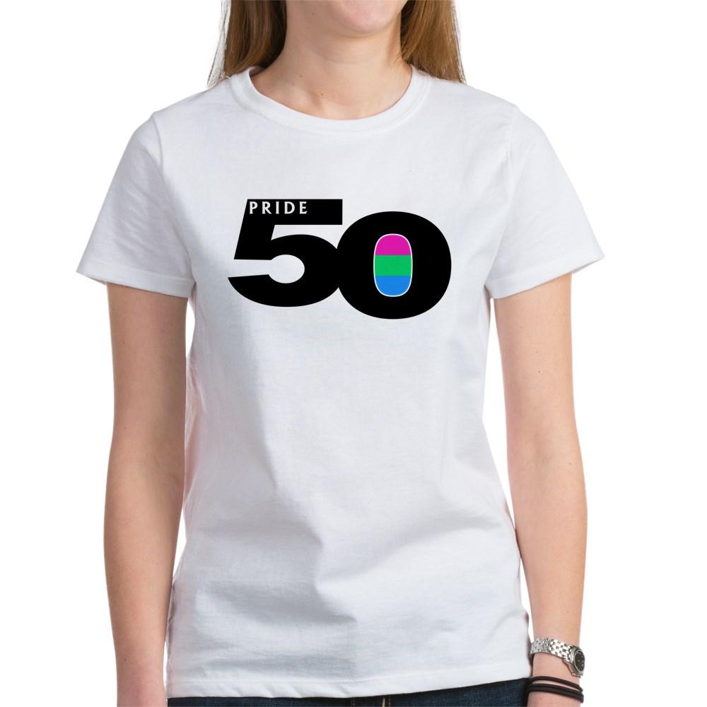 Pride 50 Polysexual Pride Flag Women's T-Shirt