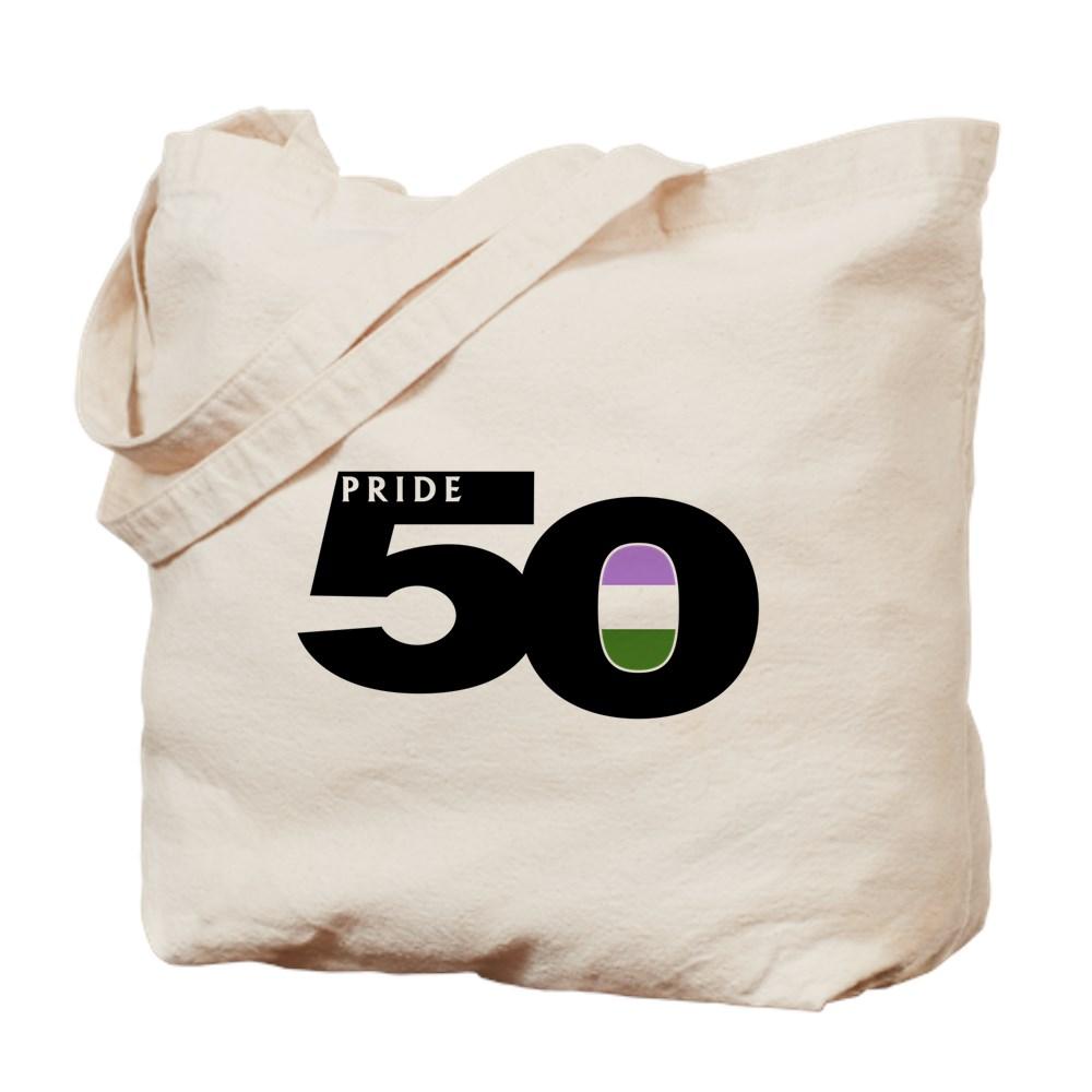 Pride 50 Genderqueer Pride Flag Tote Bag