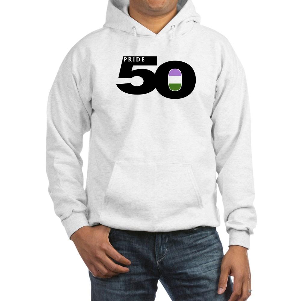 Pride 50 Genderqueer Pride Flag Hooded Sweatshirt