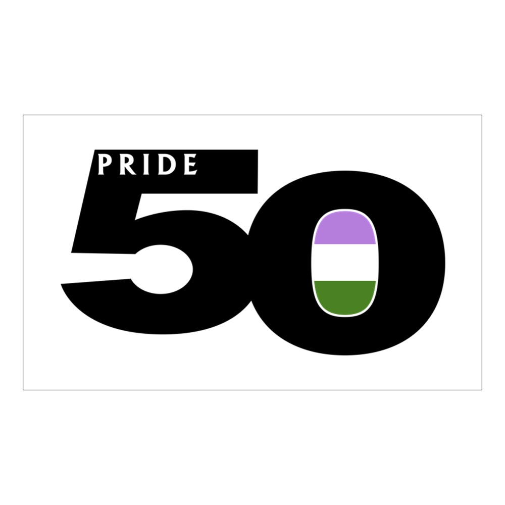 Pride 50 Genderqueer Pride Flag Rectangle Sticker