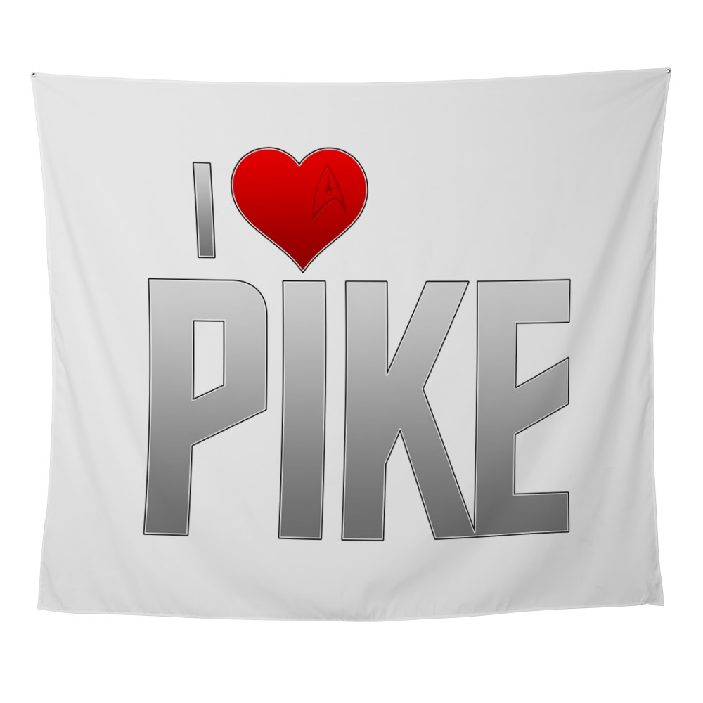 I Heart Pike Wall Tapestry
